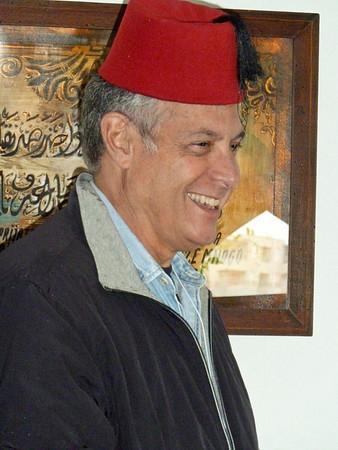 Bill wearing a fez - Turkish House, Mostar Bosnia - Herzegovina