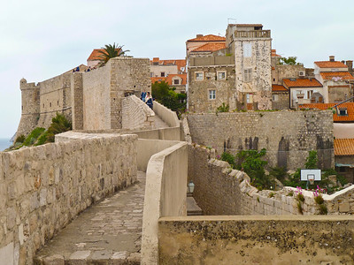 Walking the walls of the old city -- Dubrovnik