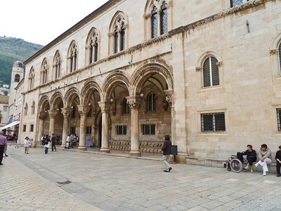 Rector's palace in old city of Dubrovnik