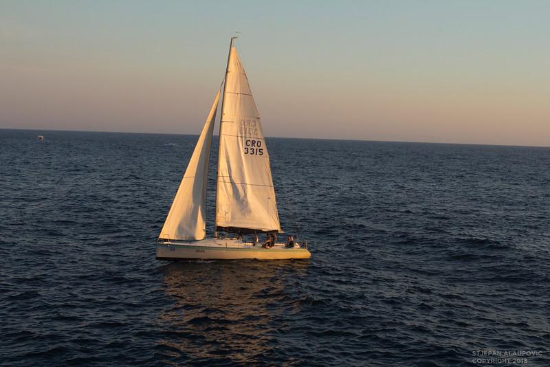 Sail boat in Dubrovnik