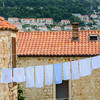 Laundry Strung Across the City Walls