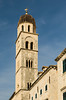 A church bell tower in old town Dubrovnik, Croatia.