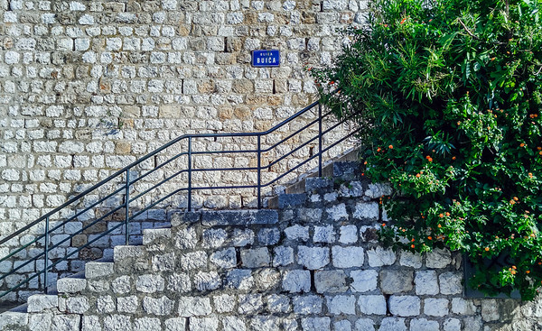 Stairs in Dubrovnik outside the city walls