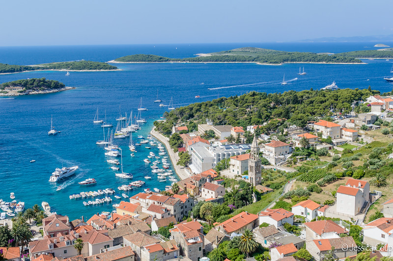 A View from Above in Hvar