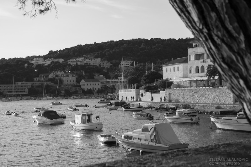 Hvar Bay (Black  & White)