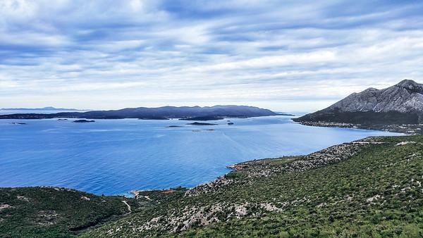 View on Korcula Island and the Adriatic Sea in Croatia