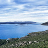 View on Korcula Island and the Adriatic Sea in Croatia