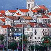 View on the town of Korcula in Croatia