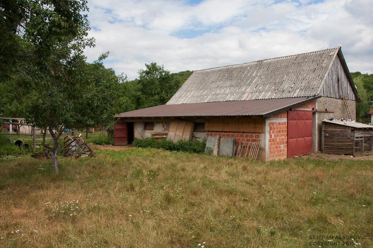 Kovacevic Barn in Smiljan, Croatia