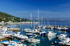The harbor and marina at Lovran, Croatia.
