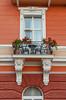 Exterior architecture at the Grand Hotel Melia in Opatija, Croatia.