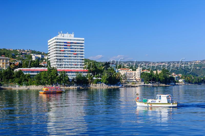 The Opatija Yacht Club in Croatia.
