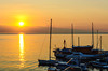 The Opatija Yacht Club at sunrise, Croatia.