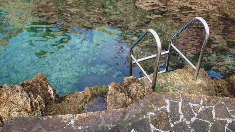 Natural pools along the coast in Rovinj