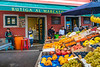 An outdoor street market at Rovinj, Croatia, Istria.