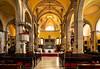The St. Euphemia Church interior at Rovinj, Croatia, Istria.