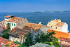 Coastal buildings at Rovinj, Croatia, Istria.