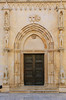 Church door to the east portal of the Cathedral of St. James in Sibenik, Croatia.
