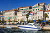 The waterfront promenade and harbour of Sibenik, Croatia.