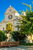 The front of the Cathedral of St. James in Sibenik, Croatia.