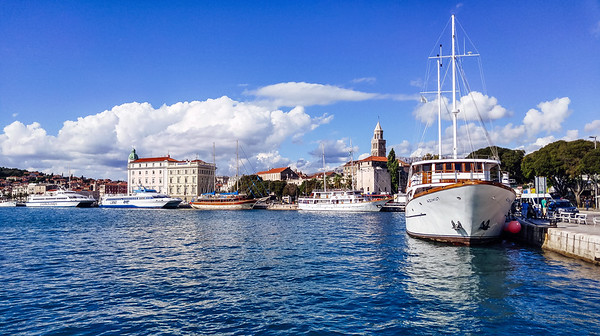 Boats in Split, Croatia