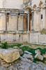 Exterior columns of the Cathedral of St. Domnius in Split, Croatia.