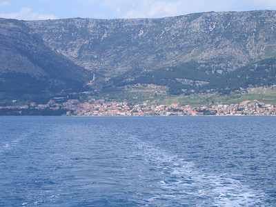 leaving Brac for Hvar