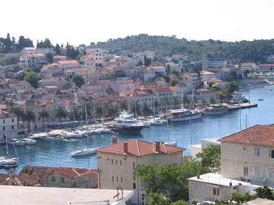 Hvar harbor and old town