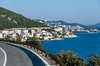 Scenes of the highway along the Dalmatian Coast south of Split, Croatia.