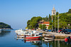 Harbour views of the small Croatian fishing village of Cavtat on the Adriatic Sea.
