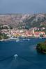 A village  along the Dalmatian Coast south of Split, Croatia.