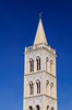 The St. Anastasia's Cathedral bell tower in Zadar, Croatia.