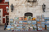 An artist display of painting in a street market of Zadar, Croatia.