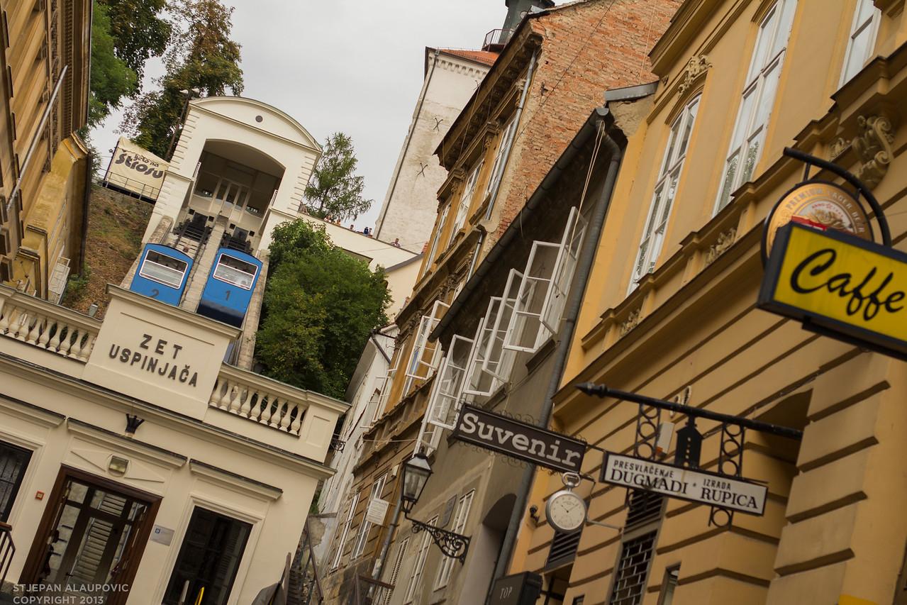 Zagreb Funicular Street