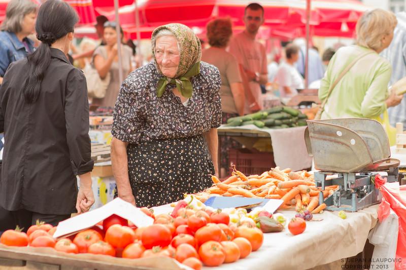 Elder Woman at Dolac Market
