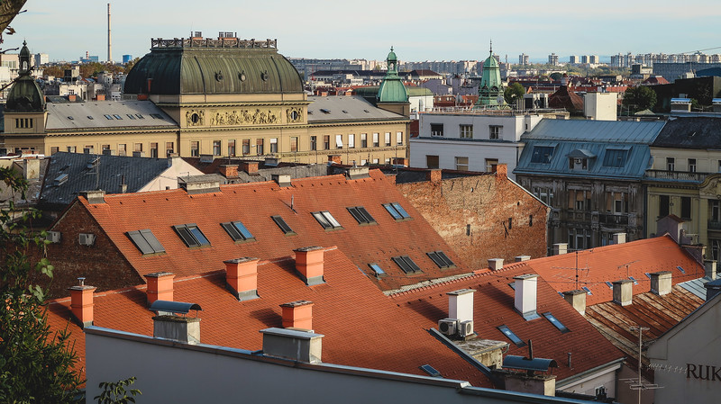 Rooftops over Zagreb