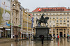 The Ban Jelacic Square in Zagreb, Croatia.
