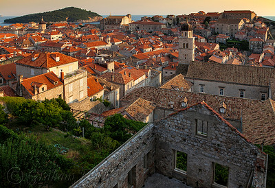 Late Afternoon Sun in Dubrovnik, Croatia