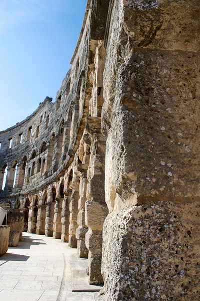 Arches of Roman Arena, Pula, Croatia