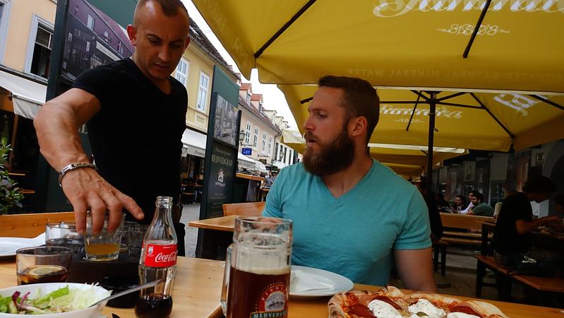 Vladimir serving beer samples