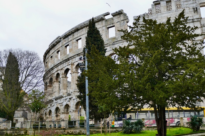 Roman coliseum at Pula, Croatia