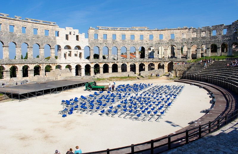 The Roman Arena, Pula, Croatia
