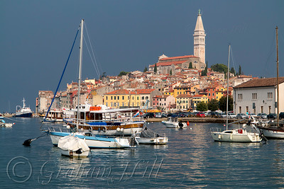 Morning Light Pierces the Clouds in Rovinj