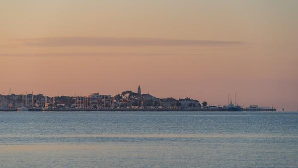 City Biograd na Moru at sunrise