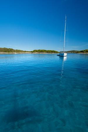 Beautiful adriatic sea in croatia
