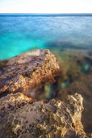 Long exposure of croatias coast