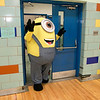 "Crocker Elementary School hosted its first annual ""Fuel Up to Play 60"" Health Fair on Thursday night at the school. One of the Universal Pictures Minions was on had at the event to help entertain the students. SENTINEL & ENTERPRISE /JOHN LOVE"