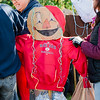 Volunteers at Crocker Field install hundreds of scarecrows in an attempt to break the Guinness Book of World Records for most scarecrows in one place. SENTINEL & ENTERPRISE / Ashley Green