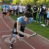 The 105th running of the Fitchburg Schools Relays were held at Crocker Field Thursday, May 16, 2019. Athletes from Fitchburg Public Schools run against one another (school vs. school, class vs. class). Sophomore Daniel Edmonds takes off to start the freshmen vs sophomore race. SENTINEL & ENTERPRISE/JOHN LOVE