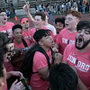 The 105th running of the Fitchburg Schools Relays were held at Crocker Field Thursday, May 16, 2019. Athletes from Fitchburg Public Schools run against one another (school vs. school, class vs. class). Juniors celebrate their win. SENTINEL & ENTERPRISE/JOHN LOVE